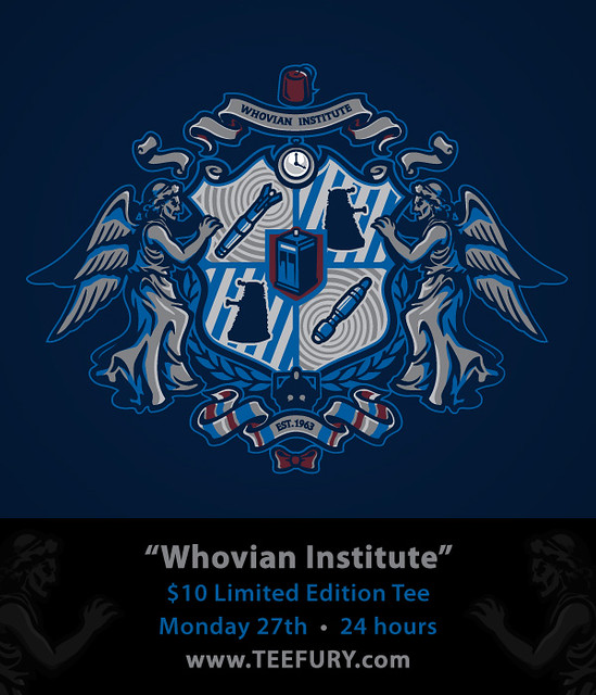 Whovian Institute @ TeeFury thsi Monday