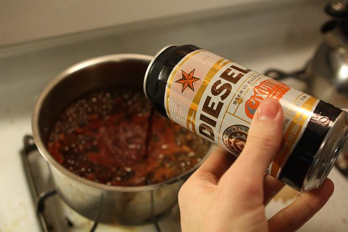 Adding Sixpoint Diesel to Baked Beans