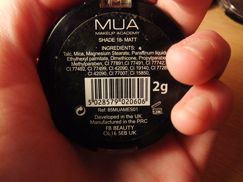 Review | MUA Eyeshadow in Shade 18