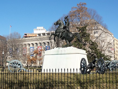 The General Andrew Jackson's statue