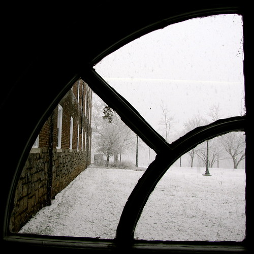 winter brown white snow black college window glass contrast square virginia university creative commons tunnel cc creativecommons pane uva residential