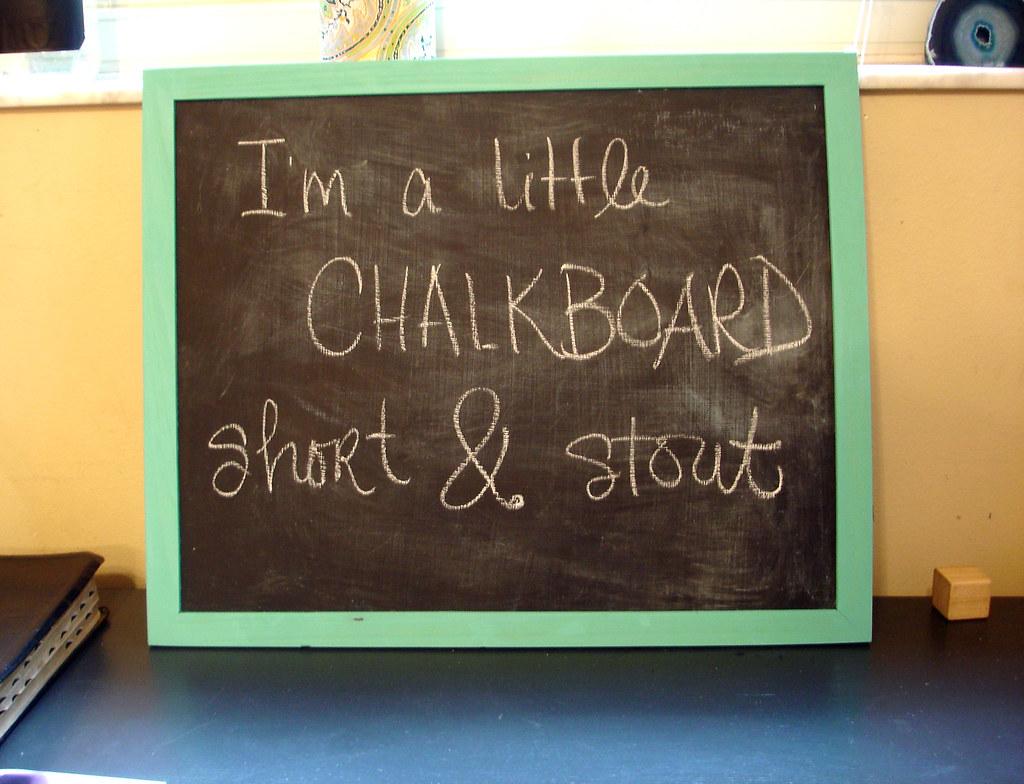 chore chalkboard