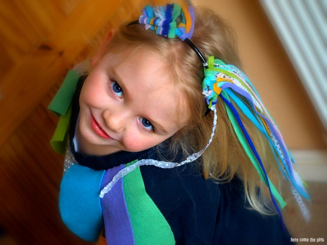 Rainbow fish costume here come the girls for Rainbow fish costume