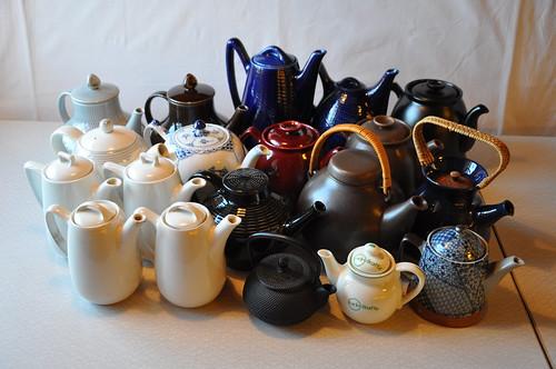 Alla mina te- och kaffekannor