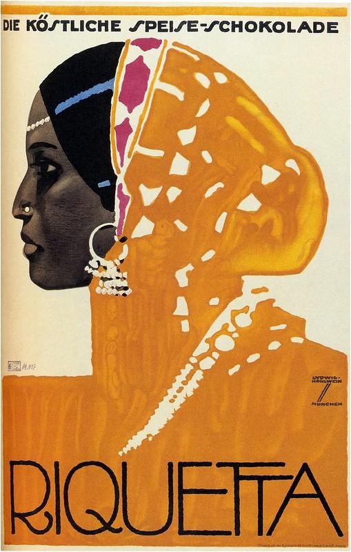 Ludwig Hohlwein. Riquetta Chocolate. 1925