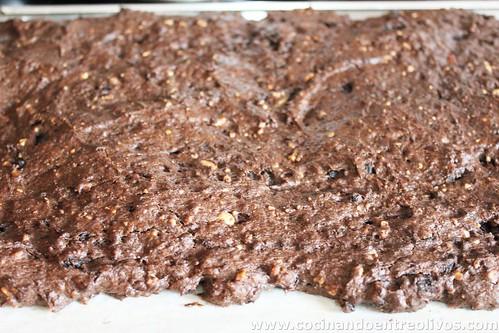 Brownie de morcilla con chutney de pimientos rojos (15)