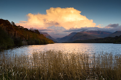 Sunset over Llyn Padarn