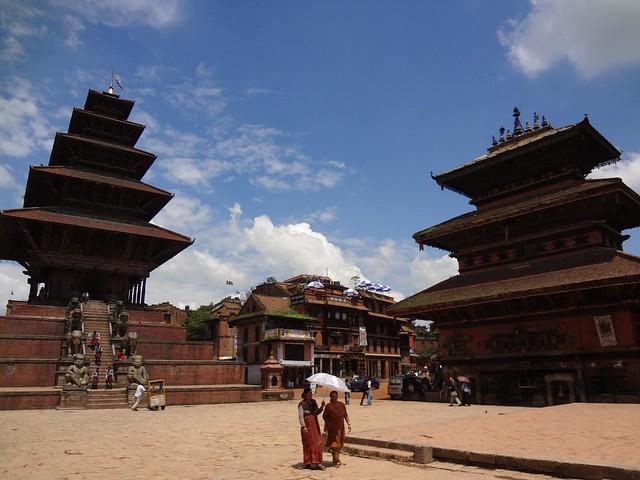 Praça Taumadhi em Bhaktapur Nepal