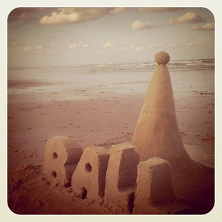 This is the first sand sculpture I've done in a long time.
