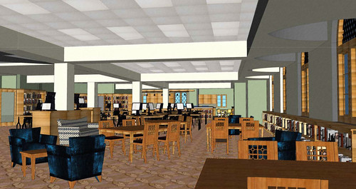 View through Learning Commons