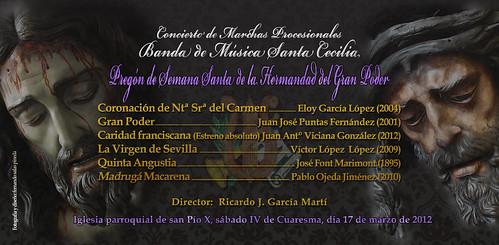 Programa concierto Banda de Música santa Cecilia