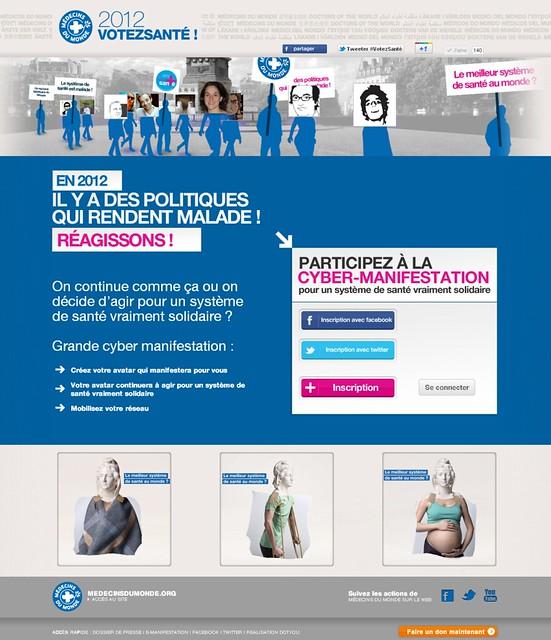 """Médecins du Monde - Opération """"2012 Votez Santé"""""""