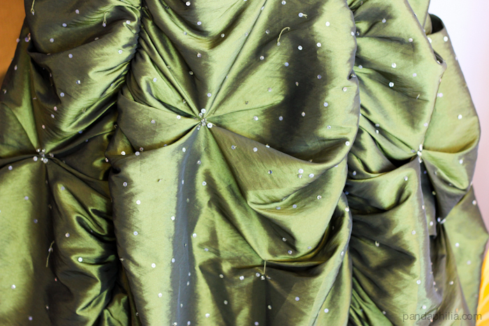 puff the magic (green dragon) dress