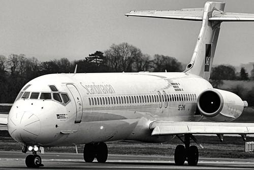 McDonnell Douglas MD-87, SE-DMK, SAS - Scandinavian Airlines.