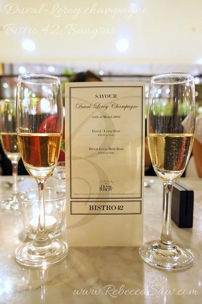 Duval-Leroy champagne, Bistro 42 Bangsar-017