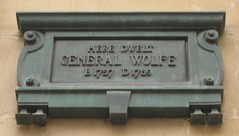 Photo of James Wolfe bronze plaque