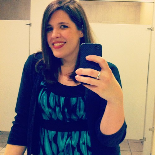 Ladies room self-portrait from last night.