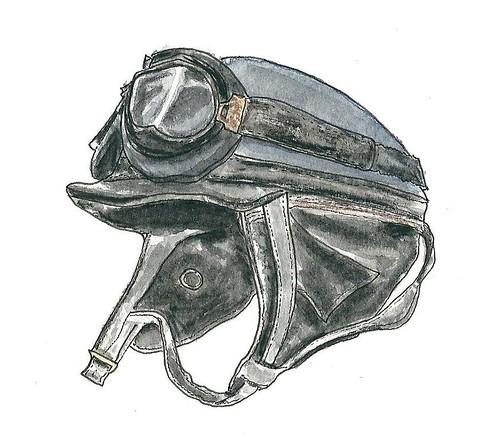 Helmet old motorcycle