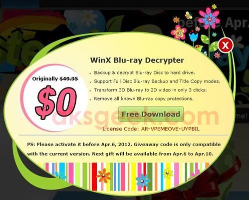 Win X Blu-ray decrypter License key