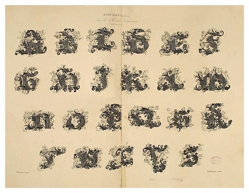 002-Alphabet-Album collection de soixante feuilles d'alphabets historiés 1843- Joseph-Balthazar Silvestre