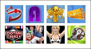 free Football Frenzy slot game symbols
