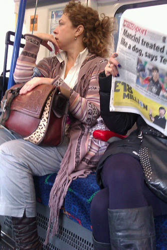 Alex Kingston on the Tube