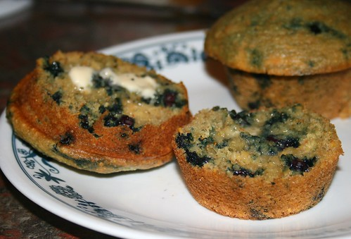 okara blueberry-corn muffins