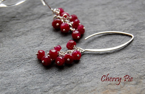 Cherry Pie Earrings by gemwaithnia