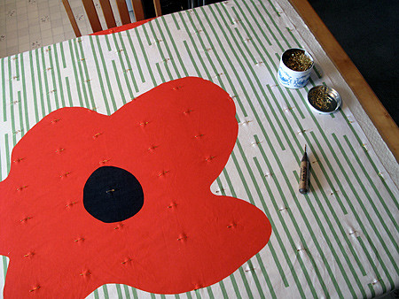 Pin Basting Poppies