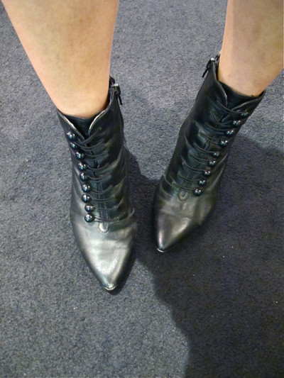 Boots that so comfortable and easy to wear (just zip it up at the side). They'd look good with anything!