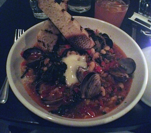 clams and chorizo at Hungry Cat