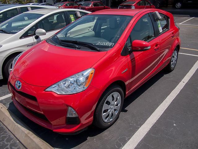 Prius C 2012 Left Front Quarter View