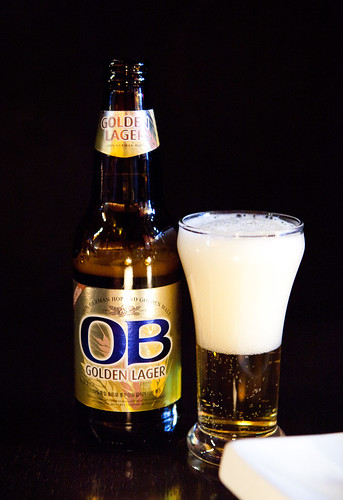 OB Golden Lager - a type of Korean beer