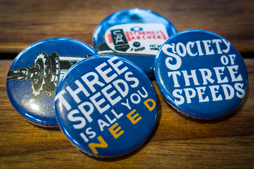 Society of Three Speeds Pins