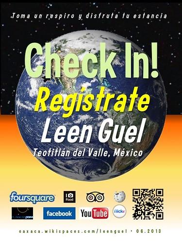 Leen Guel Check In! Regístrate Oaxaca 06.2013