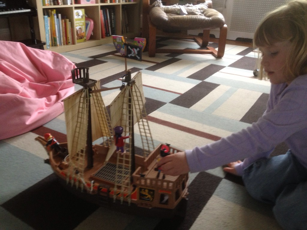 Yard sale pirate ship=awesome
