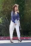 Kourtney Kardashian White Trousers Celebrity Style Women's Fashion