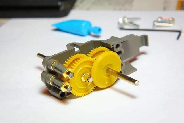 Tamiya Twin Motor Gearbox Half Finished Flickr Photo