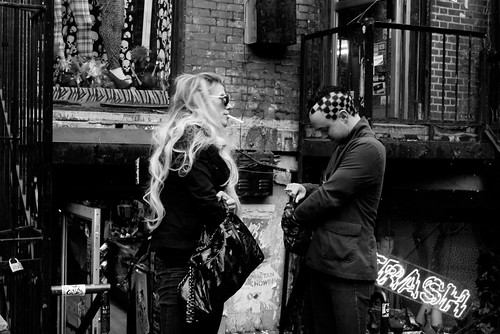 Saint Marks street scene by PatMinNYC
