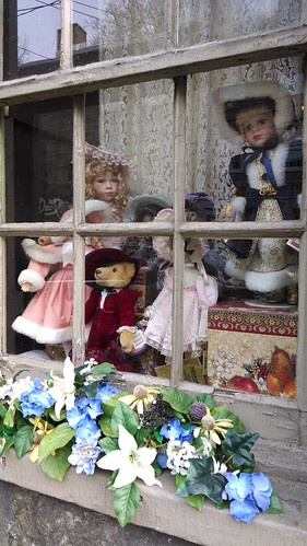 Dolls in Store Window