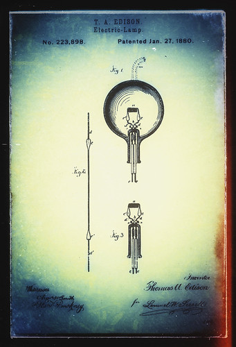 Snapseed - T A Edison - Electric-Lamp Patent Art