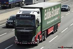 Volvo FH 6x2 Tractor with 3 Axle Curtainside Trailer - KR63 YXE - Mercia Sandra - Eddie Stobart - M1 J10 Luton - Steven Gray - IMG_7679