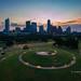 Good morning, Austin, Texas - Over Butler Park and Doug Sahm Hill Summit in Butler Park