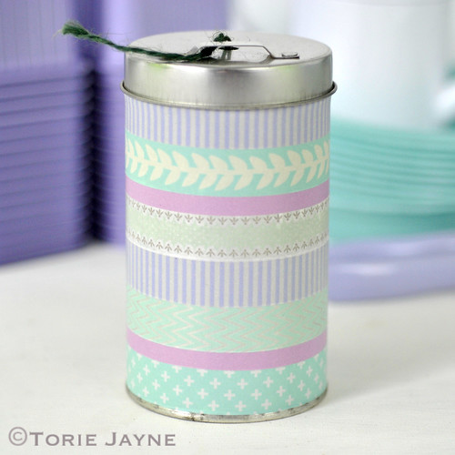 Twine tin with Washi Tape 2