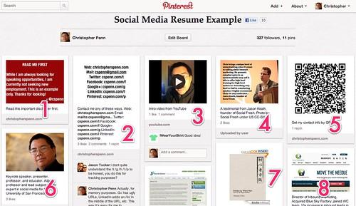 Social Media Resume Example