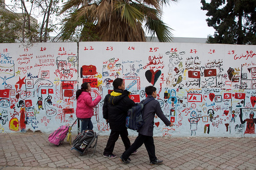 school winter children tunisia january graffitti sousse susa tunisie 2012 benali sahel degage arabspring
