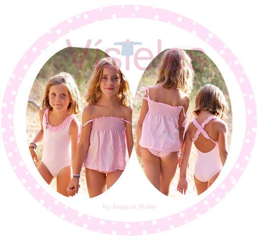 Luca bynn moda infantil ba o 2012 rosa puntos flickr for Ropa de bano infantil
