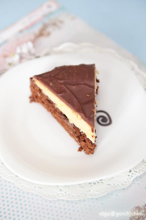 Шоколадный торт Milky  с заварным кремом