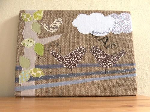 Jenny: Custom Burlap Art