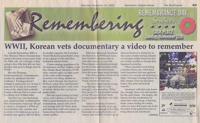 WWII, Korean vets documentary a video to remember
